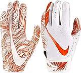 Nike Adult Vapor Jet 5.0 Receiver Gloves 2018 (White/Orange, Small)