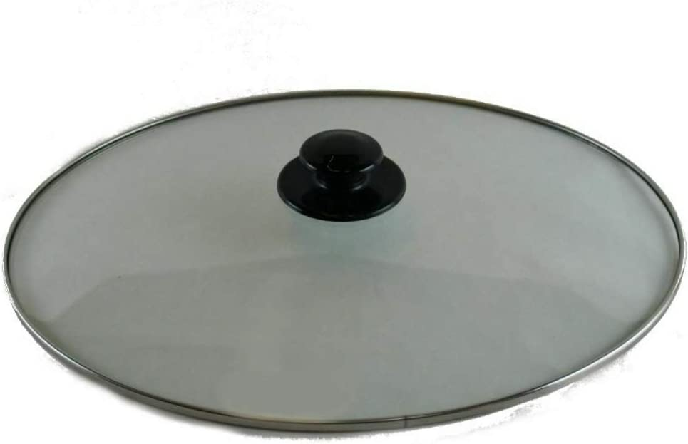 Quality (NEW) Crock Pot Lid Replacement for Rival 64451LD-C Glass Top Slow Cooker Cover OVAL 64451LD-C-NP. 64451LD-C