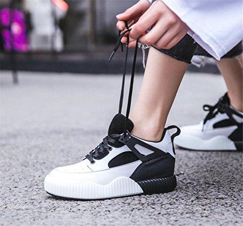de de running Zapatillas a mujer Zapatos Zapatillas cuero de 35 Plataforma deporte 40 deporte Zapatillas Senderismo Tamaño Black de de genuino FUdOOx7