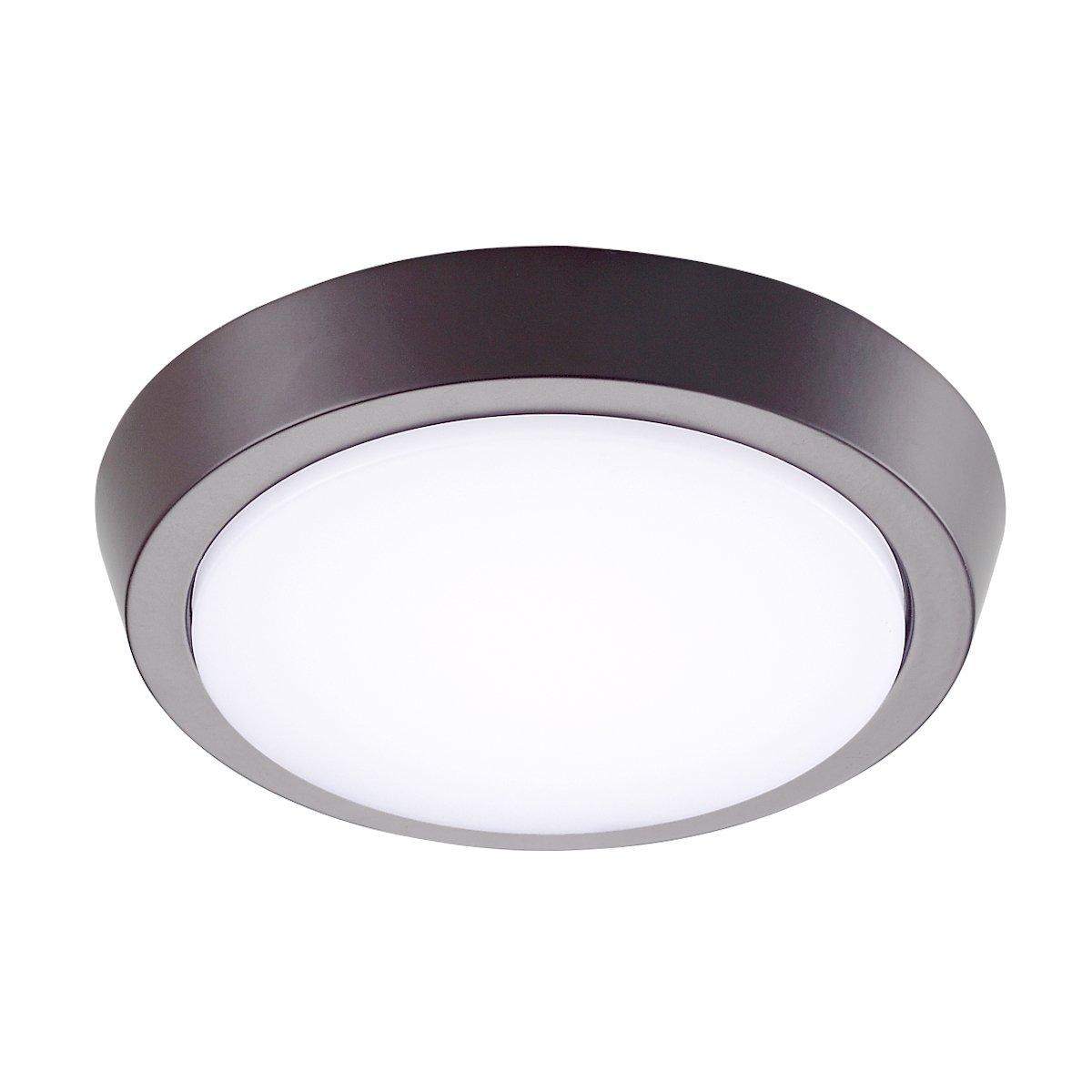 GetInLight 7 Inch Flush Mount LED Ceiling Light with ETL Listed, Soft White 3000K, Bronze Finish, IN-0302-2-BZ