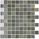 Clever Tiles Stickers Khaki Squares 30x30cm by Sabar