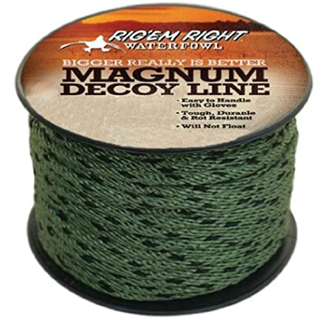 RIG/'EM RIGHT WATERFOWL MAGNUM DUCK DECOY LINE CORD ROPE RIGGING 300/' SPOOL