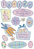 KAREN FOSTER Design Acid and Lignin Free Scrapbooking Sticker Sheet, Easter Hunt
