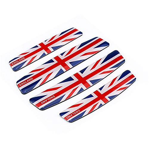 4x UK United Kingdom GB Flag Auto Car Door Guard Emblem Sticker Decal Universal Bumper Corner Scratch-Prevention Badges