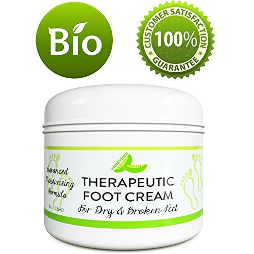 All Natural Shea Butter Moisturizing Foot Cream for Dry and Cracked Feet – Foot Care Lotion for Cracked Heels – Ultra- Hydrating Cream with Coconut Oil and Jojoba for Men and Women – 4oz – By HoneyDew (Foot Shea Butter)