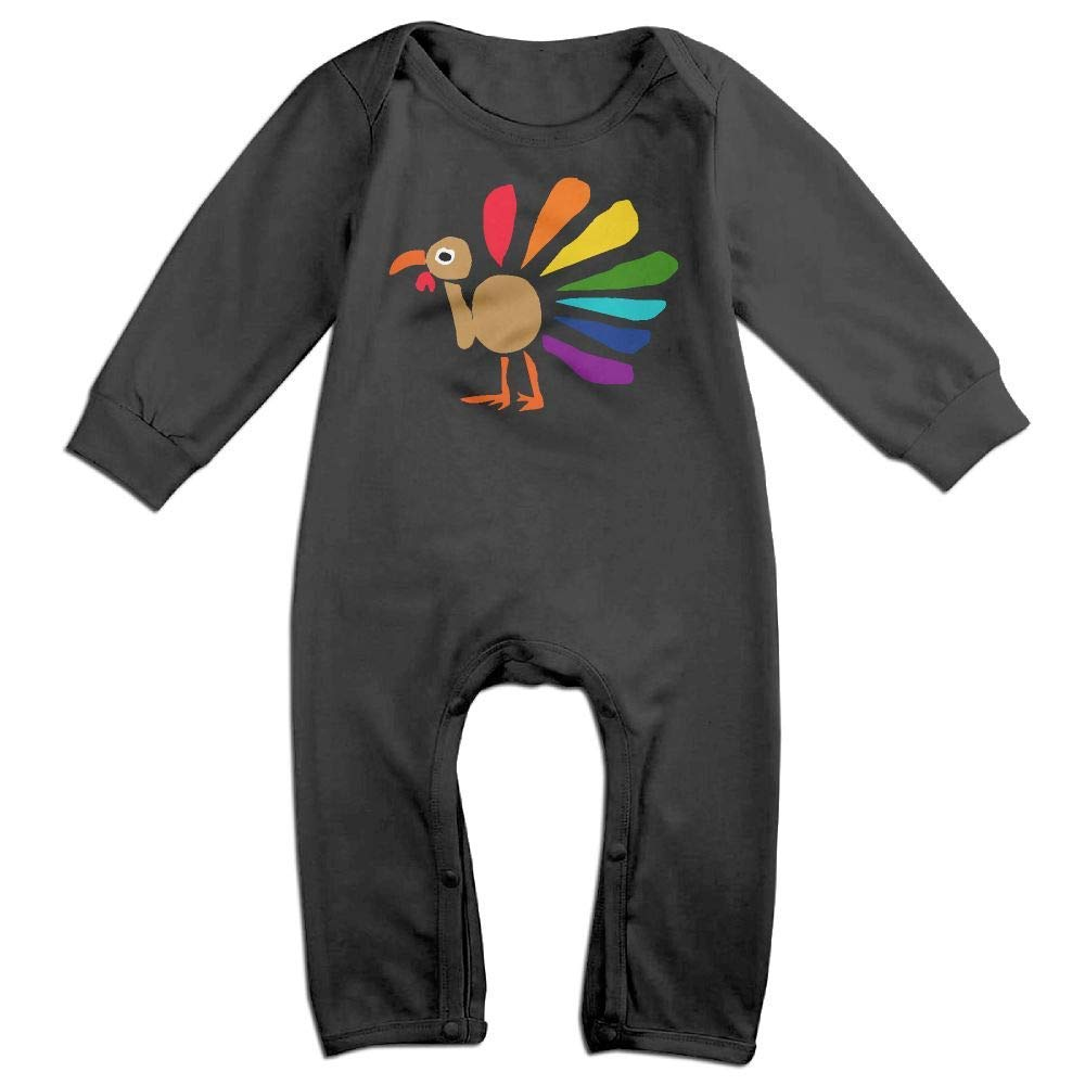 Baby Boy Girl Long Sleeve Jumpsuit Colorful Turkey Art Baby Clothes