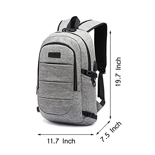 SUMSUNSHINE Laptop Backpack, Anti-theft Business Laptop Backpack with USB Port - Water Resistant Travel Backpack Book School Bag for College Student Work Men & Women by SUMSUNSHINE (Image #7)