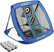 Rukket Pop Up Golf Chipping Net   Outdoor/Indoor Golfing Target Accessories and Backyard Practice Swing Game w