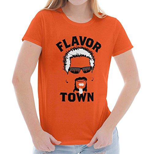 Brisco Brands Food TV Flavor Town Funny Meme Foodie Ladies T Shirt