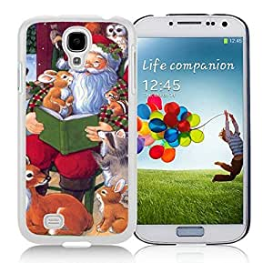 linJUN FENG2014 Newest Samsung S4 TPU Protective Skin Cover Santa Claus With Animal White Samsung Galaxy S4 i9500 Case 1