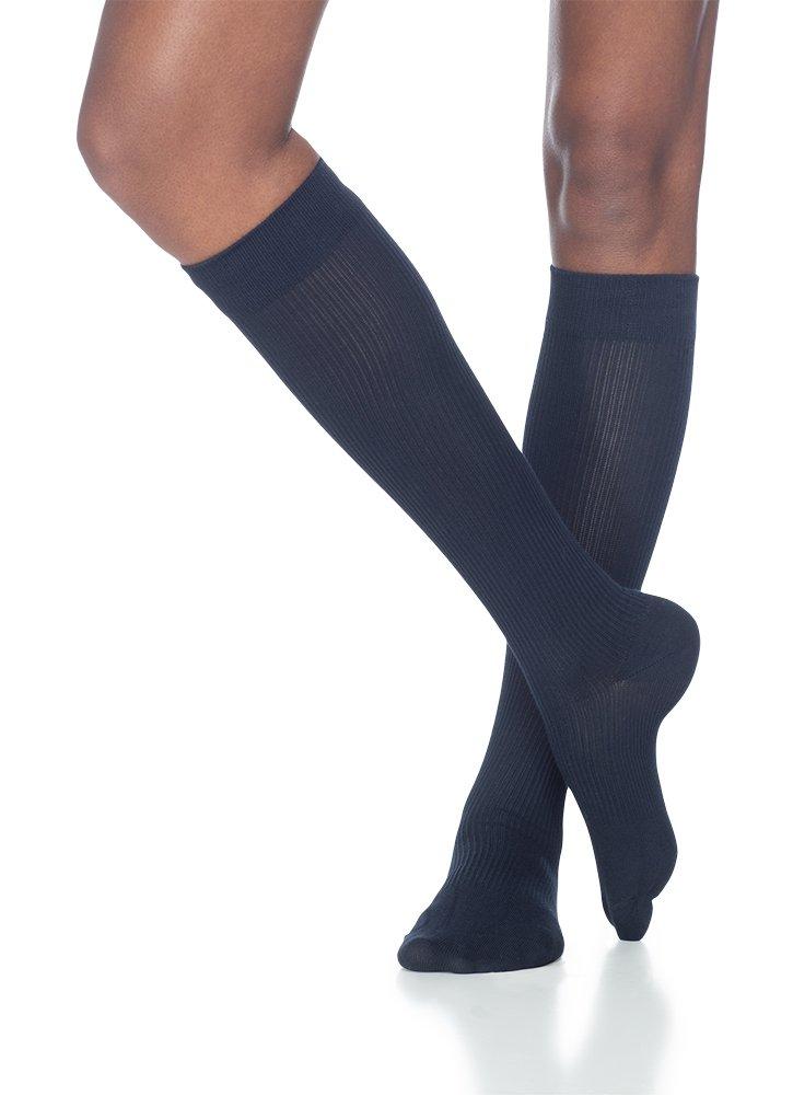 SIGVARIS Women's CASUAL COTTON 146 Calf High Compression Socks 15-20mmHg