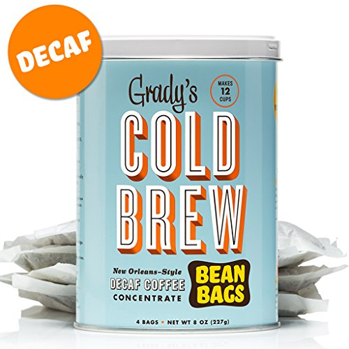 Gradys Cold Brew Iced Decaf Coffee Bean Bags (Decaf, 2 Can)