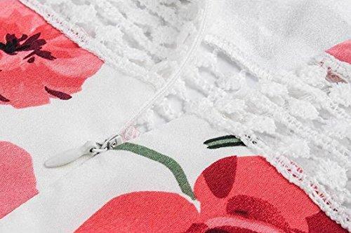 Flower Vacation Line Mini White A Bandeau Shoulder Dress Summer Dresses Womens Party White Off zx6qWEp
