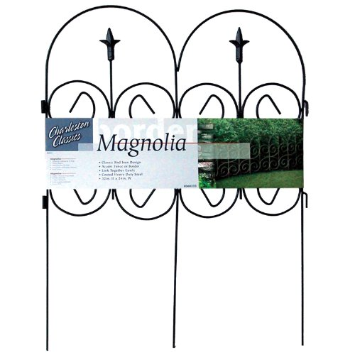 Origin Point Magnolia Classic Decorative Steel Landscape Border Fence Section by Origin Point