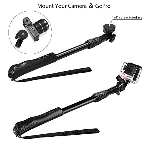 keedox wireless extendable rotary locking professional bluetooth selfie stick for iphone samsung. Black Bedroom Furniture Sets. Home Design Ideas
