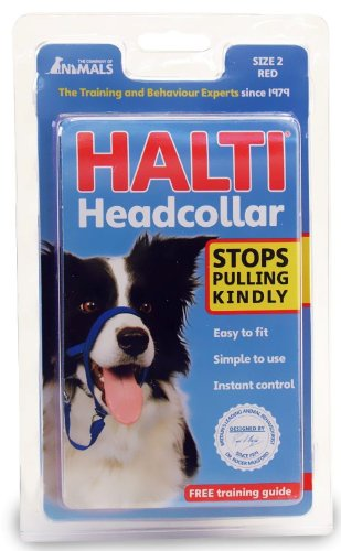 Large Leader Red Gentle - Halti Headcollar, Red, Size 2