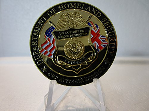 United States Border Protection Attache London UK Limited to 100 Challenge Coin Made