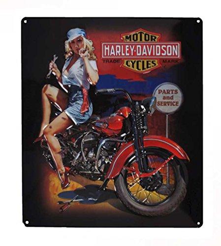 Harley-Davidson Fixer Up Babe Bar & Shield Tin Sign 13 x 15 Inches 2010401