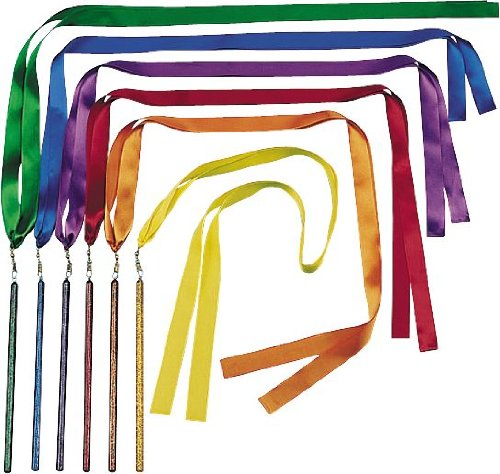 (US Games Color My Class Ribbon Wand Set, 6-Feet)