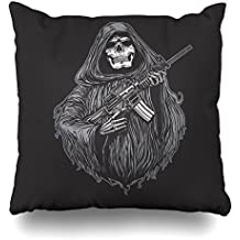 KJONG Grim RiffleZippered Pillow Cover,18 x 18 inch Square Decorative Throw Pillow Case Fashion Style Cushion Covers(Two Sides Print)