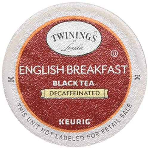- Twinings of London Decaffeinated English Breakfast Tea K-Cups for Keurig, 48 Count