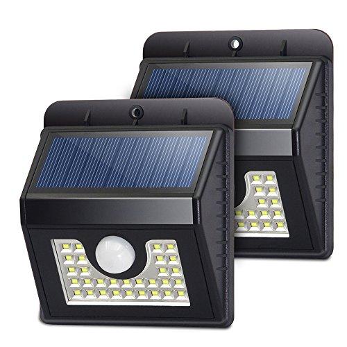 Solar Power Outdoor LED Wall Fence Lamp for Garden Deck White Light - 5