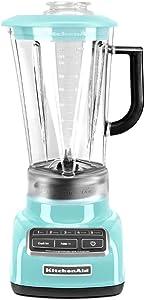 KitchenAid Diamond Vortex 5-Speed Blender, KSB1575 (Aqua Sky Blue) (Renewed)