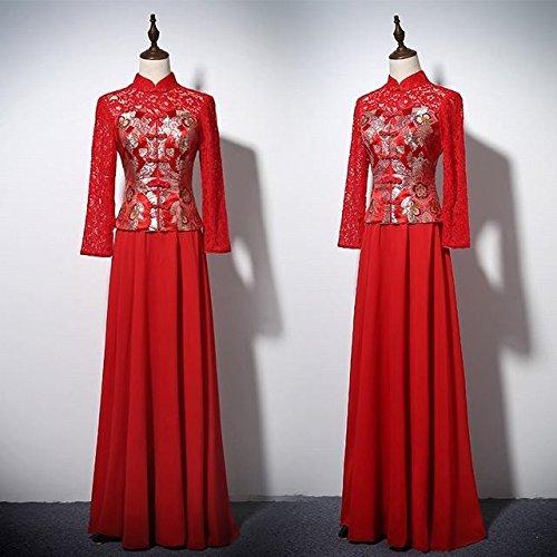 はさみ眼偽物花嫁 カラードレス 中華風 レディース チャイナドレス 宴会 ロングドレス 出演 QBLF0711004