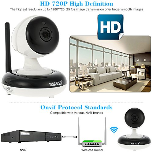 WiFi Wireless Camera 720P Pan Tilt IP Camera WIFI Indoor Security Night Vision Camera Support Max 128GB TF Card Record