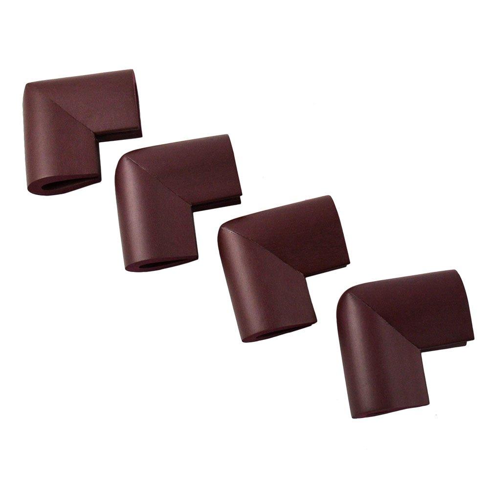 Szaerfa 4pcs protecteur de b/éb/é bord de s/écurit/é en verre de table bureau de coussin garde coins de pare-chocs Noir