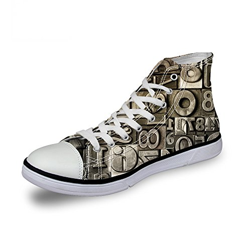 ThiKin スニーカー キャンバス シューズ 帆布 3Dプリント レトロ 柄 カジュアル 靴 個性的 軽量 通気 おしゃれ ファッション 通勤 通学 プレゼント