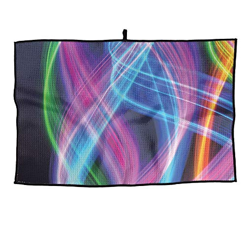 YanHill 3D Colorful Fireworks Full Print 100% Microfiber Golf Towel 15
