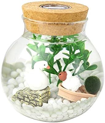 OMEM Juego de Acuario - Bolas de musgo estilo de vida, algas marinas, grava, muñeca, ...