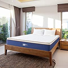Product Overview: BedStory 10 Inch Latex Hybrid Mattress is made of foam layers,latex layer and Independently Encased Coil layer.The unique Design reaches a balance between firmness and softness,provides enought supporting for your back.Suita...