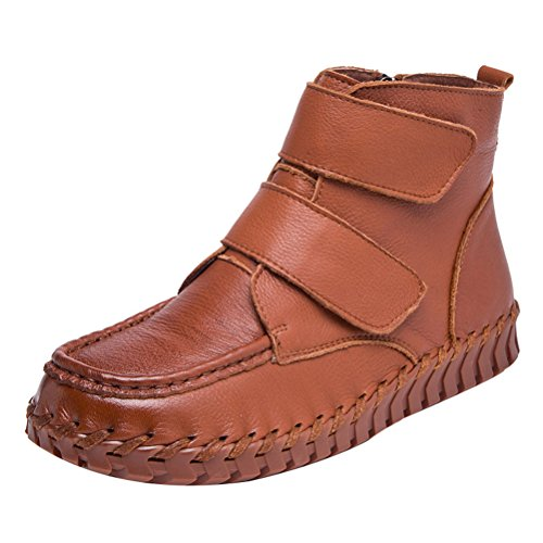 Mordenmiss Womens New Fall Winter Martin Platte Plain Teen Boots Style 1 Camel