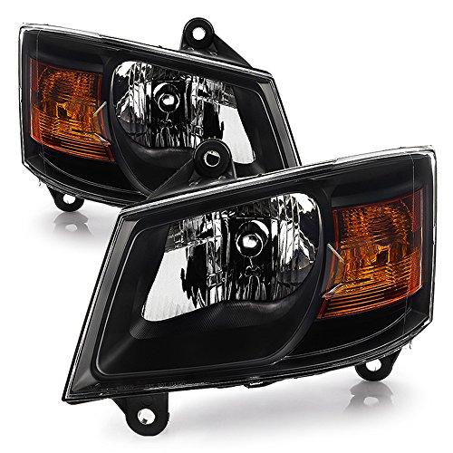 - ACANII - For Blk 2008 2009 2010 Dodge Grand Caravan Headlights Headlamps Driver + Passenger Side 08 09 10
