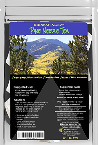 Pine Needle Tea Wild Harvested - Powerful Antioxidants Raw Vitamin C and A Preservative Free - Vegan and Paleo Friendly 20 Bag ()