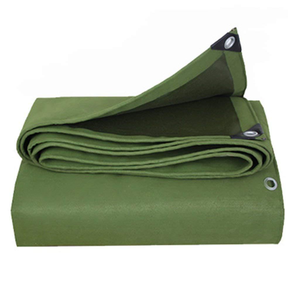防水性と耐寒性、耐久性のあるポリエステル繊維、厚さ0.7mm、マルチサイズオプション(1.9m×1.9m) (色 : Green, サイズ さいず : 4.8mx4.8m) 4.8mx4.8m Green B07KB6JHBT