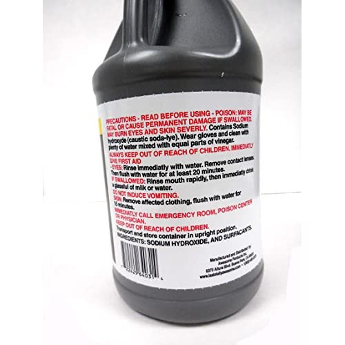 La's Totally Awesome Drain Opener & Cleaner Dissolves Hair & Grease Clogged 64 oz - 1 bottle U.S. Made chic