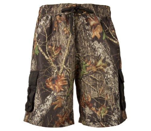 Mossy Oak Camouflage Shorts - Mossy Oak Break Up Cargo Board Shorts Mens Camouflage Swim Trunks (Medium)