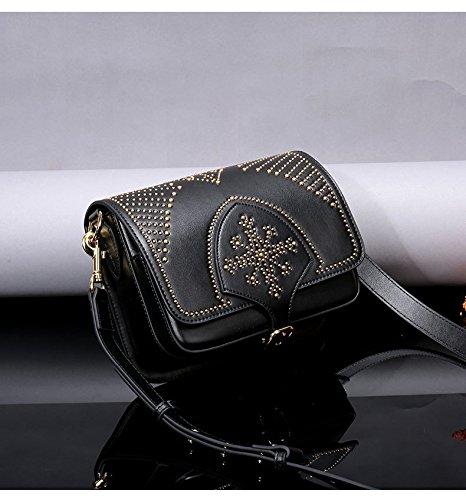en Vintage Sacs Designer bandoulière femmes Sacs à à Bag main Satchel Saddle Black Femme Bag Sac véritable Tote Crossbody pour Messenger cuir Mesdames PZEwqrSFZ