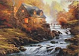 YChoice Educational Puzzle Kids Approx 1000 Pieces Paper Landscape Puzzle Education Learning Toy Fantastic Gifts(Small River)