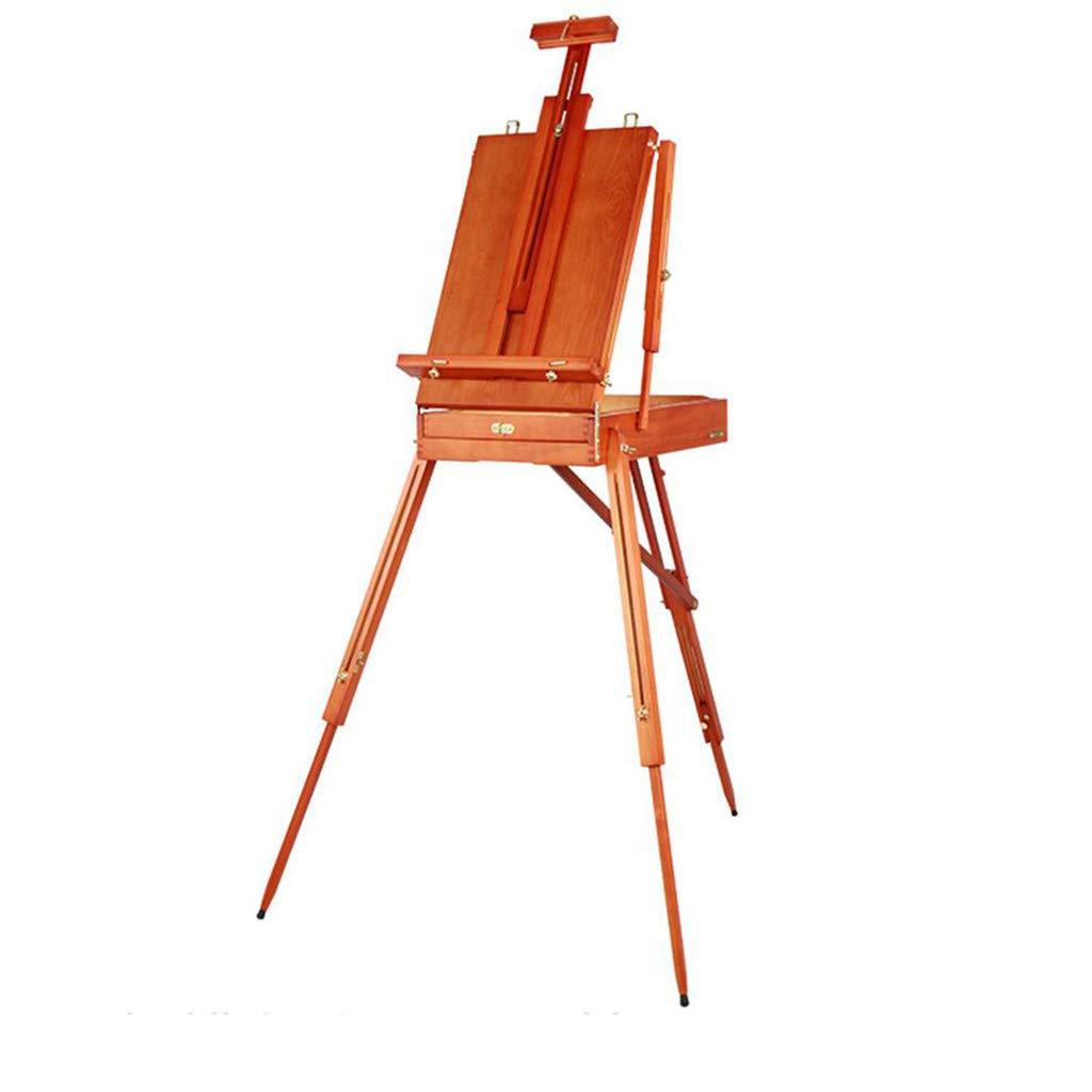Walnut Farbe D_HOME Klapp Staffelei Skizze Massivholz Staffelei Hubrahmen Reißbrett tragbar (145  78  100cm) (Farbe   Walnut Farbe)