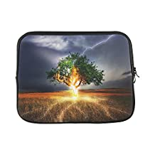 """Design Custom Flash Lightning Weft Impact Weather Storm Gloomy Sleeve Soft Laptop Case Bag Pouch Skin for MacBook Air 11""""(2 Sides)"""