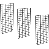 Only Garment Racks #1899C Grid Panels - Perfect Metal Grid for Any Retail Display, 2' Width x 4' Height, 3 Grids Per Carton (Polished Chrome) (Pack of 3)