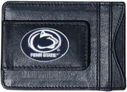 Penn State Nittany Lions Fine Leather Money Clip - Black