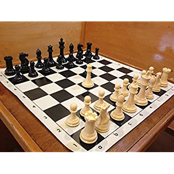 Quadruple Weight Tournament Chess Game Set   Chess Board Game With Natural  Chess Pieces, Black