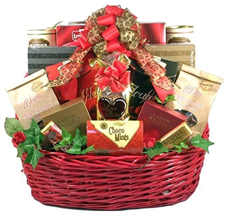 Amazon Com Deluxe Chocolate Valentines Day Gift Basket For Men