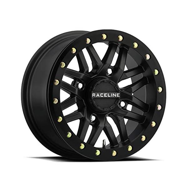 14-19-POLARIS-RANRZR1000XE-Raceline-Ryno-Beadlock-Wheel-FrontRear-15X7-4156-52-Black