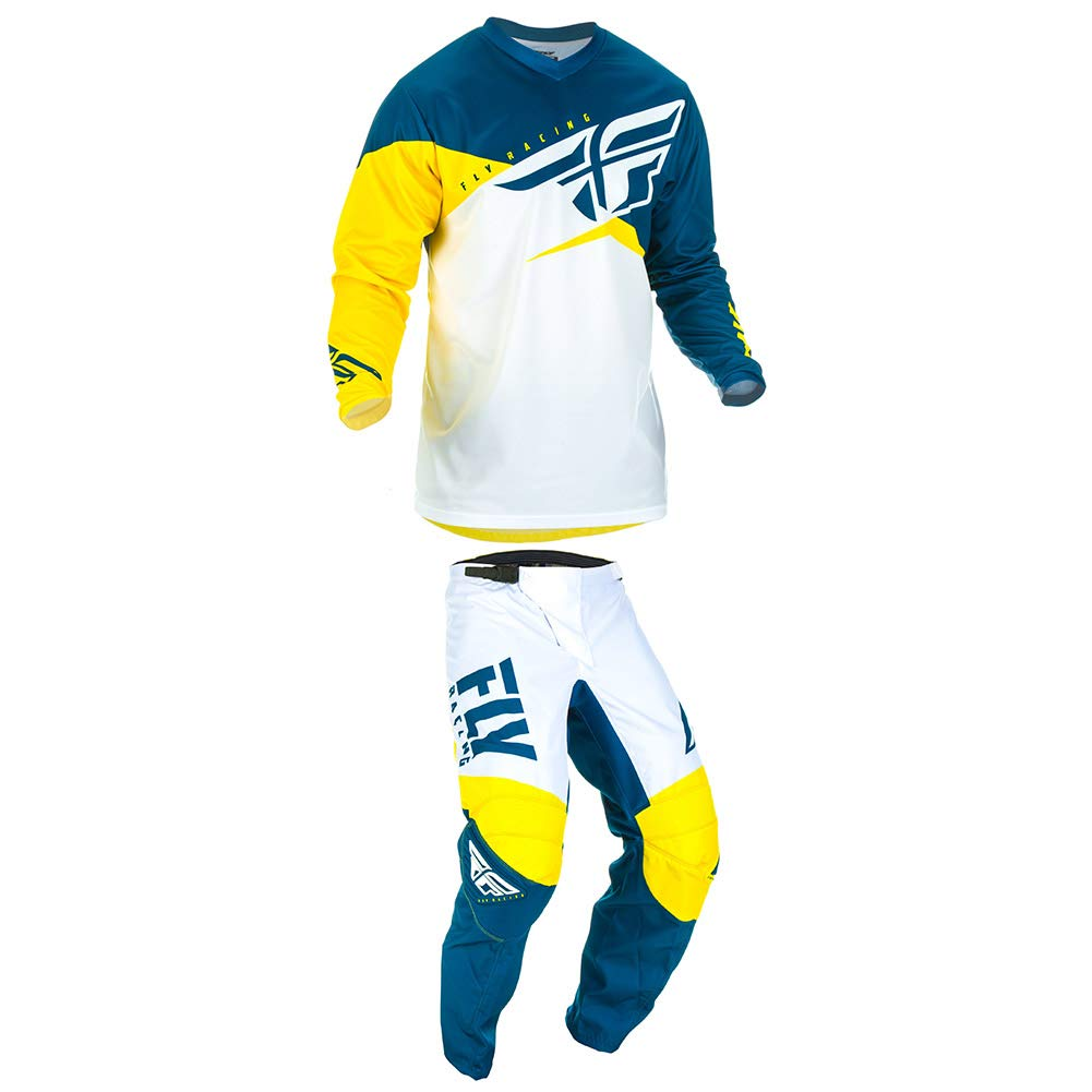 Fly Racing 2019 F-16 Pants 36 Yellow//White//Navy